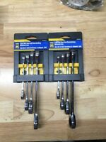 power fist 4pc sae box end ratcheting wrench set