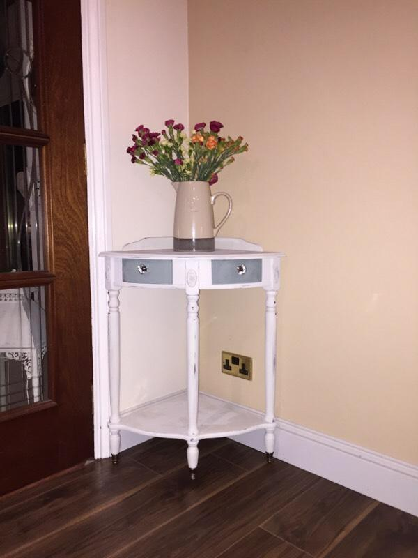Corner Console Table hand painted shabby chic corner console table | in kelty, fife