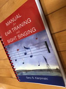 Manual for Ear Training and Sight Singing  by Gary Karpinski