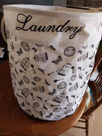 Birdcage canvas laundry basket £1