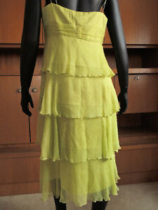 Shelli Segal, designer layered chiffon and silk dress. London Ontario image 4
