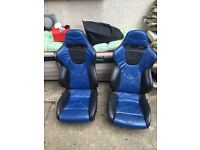 Ford Fiesta Mk 5 Zetec s leather front bucket seats,£150