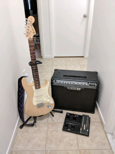 Stratocaster Highway One USA + Amplificateur Line 6 Spider III