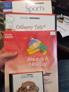 Artista/Studio Bernina embroidery cards, new and barely used