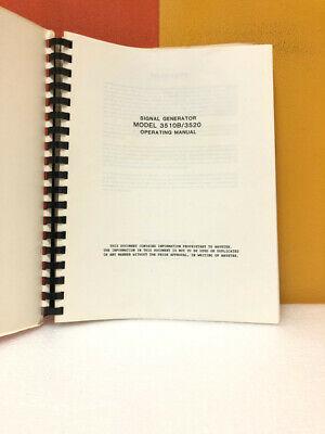 Wavetek Signal Generator Model 2510b3520 Operating Manual