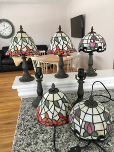 table lamps stainglass imitation