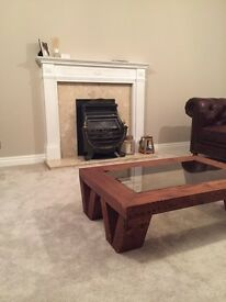 Fireplace plus marble surround and hearth