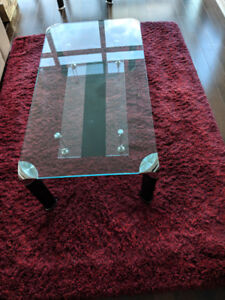 Beautiful Two Tiered Glass Coffee Table & Side Table for $190.