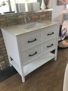 BATHROOM & KITCHEN:VANITY, CABINET,MIRROR,TUB,TILE,FAUCET,SINKS