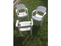 Three garden chairs