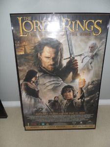 2 Theatre Room Movie Posters in frames