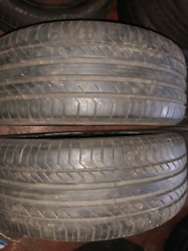 235 45 17 part worn tyres full set of continental used tires