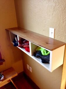 4' live edge oak shelf. $125 (installation included)
