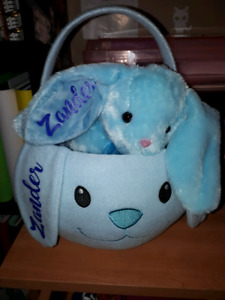 Customized Easter bunnies and baskets
