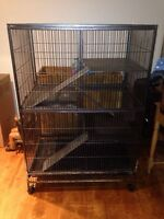 Tres grand cage Lapin chinchillas rat oiseau