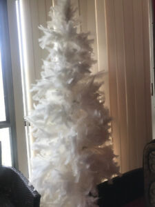 White feather Christmas tree