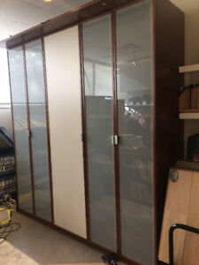 Large Cabinet with frosted glass dooors