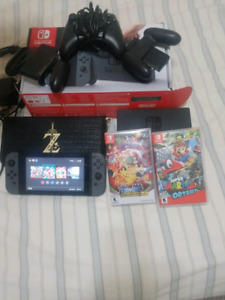 Nintendo switch (4 games and a bunch of accessories)