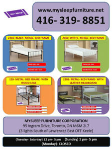 BED FRAMES- MANY TYPES- BRAND NEW- Delivery $25 & up