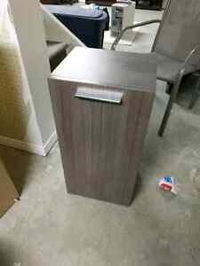 Modern cabinet with mounting hardware