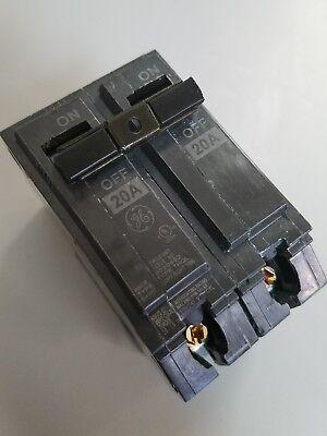 New Ge Thql2120 20a 120240v 2p Plug-in Circuit Breaker