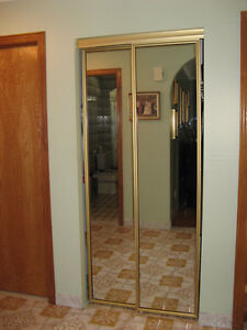 mirrored closet sliding doors for Sale