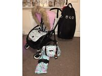 Bugaboo bee3 limited edition black frame with elodie details SWAPS