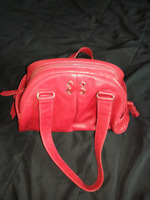 Cole haan red leather purse