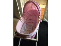 Hello kitty Moses basket and stand *REDUCED*