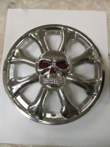 SKULL HUBCAPS, SET OF 4, SIZE 15, WHEEL COVERS