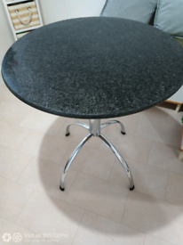 Marble black Round Dining Table