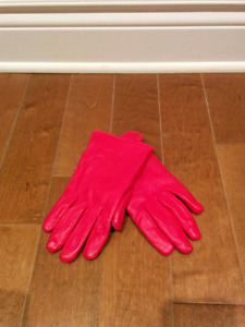 Women real leather gloves - size large
