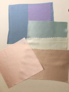 100% Mulberry Silk Swatches