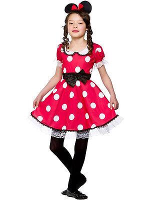 Girls Kid Cute Minnie Mouse Fancy Dress Costume Red White Polkadot Child - Cute Kid Girl Kostüm