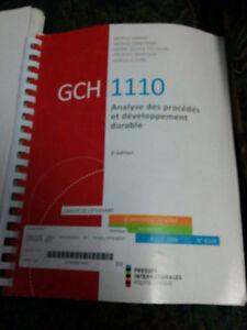 GCH1110 Analyse des procédés et développement durable, 3e éd.