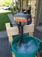 MINT CONDITION MARINER 2M/YAMAHA 2B OUTBOARD MOTOR