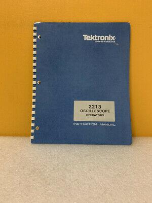 Tektronix 070-3397-00 2213 Oscilloscope Operators Instruction Manual