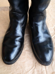 EUC Mens Black Leather Western Boots Williams Lake Cariboo Area image 8