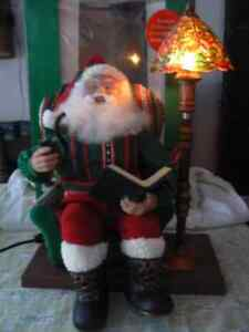 Animated Santa with illuminated floor lamp West Island Greater Montréal image 2