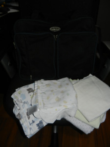 Diaper bag and receiving blankets