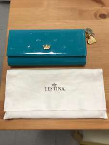 Perfect condition teal blue wallet (Korean brand)