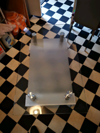 White wood/glass table
