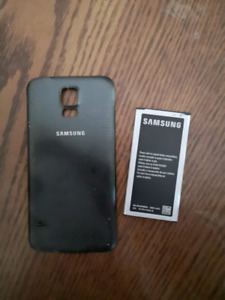10$,obo S5 Samsung 5 battery and black back cover