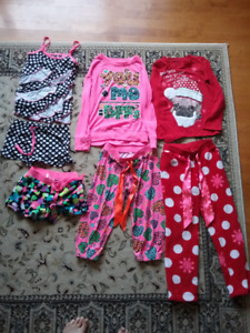 Justice pajamas, 3 pairs and one pair of PJ shorts - sizes 8/10