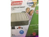 Camping/air bed deluxe queen size Coleman make