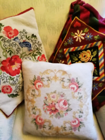 Vintage Tapestry/Needlework Cushion Covers