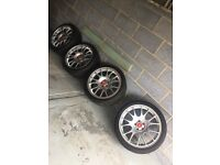 BBS CH alloys 18inch with tyres excellent condition, fit vw mk4 golf PCD 5x100