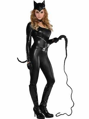 Ladies Kat Fancy Dress Costume Sexy Catsuit Kitty Cat Woman Outfit Size 8-18 ()