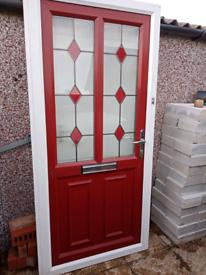 Composite front door & frame