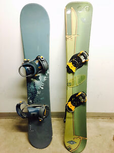2 X snowboards with bindings